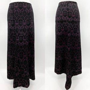 Vtg Rare Lip Service Quoth the Raven Velvet Skirt